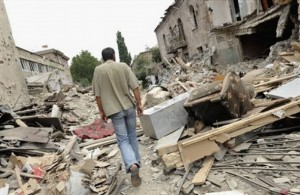 Gori Lies in Ruins After Russian Bombs and Looters