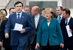 The German Chancellor rushes to Georgia's aid