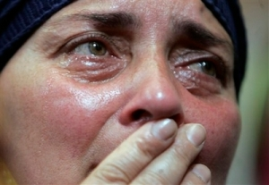 She weeps for her country