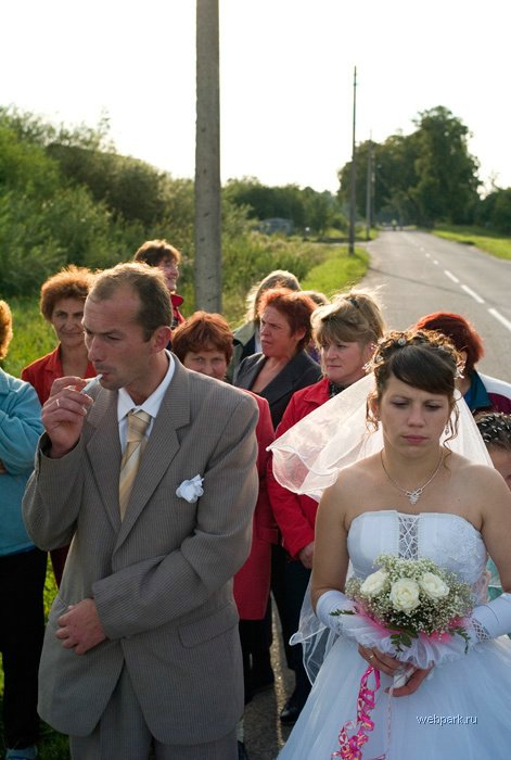 Myth #4 - Russians are a somber, gray people who hate to smile; in fact, they are deleriously happy in the Russia of Vladimir Putin, and never more so than at a wedding of two godlike youngsters