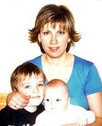Svetlana Bakhminia with her two children, in happier times