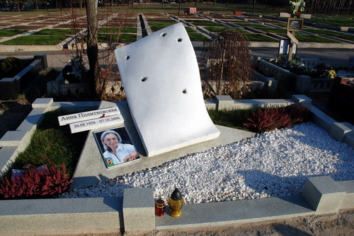The grave of Russian Hero Anna Politkovskaya