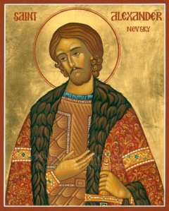 The Russian Orthodox Church put Nevksy on an icon because it declared him a saint