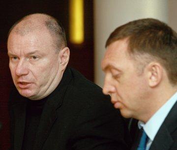 Olympic locomotives Vladimir Potanin and Oleg Derispaska