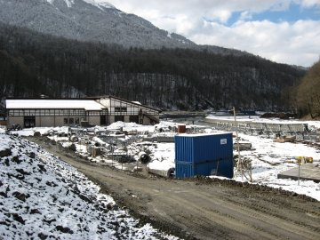 Roza Khutor is one of the touchiest Olympic building issues