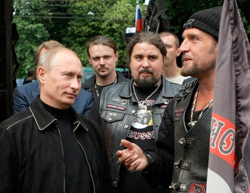Vladimir Putin visits his leathery pals in Sevastopol in early June